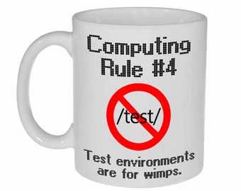 Computer Programming Rule Funny Coffee or Tea Mug