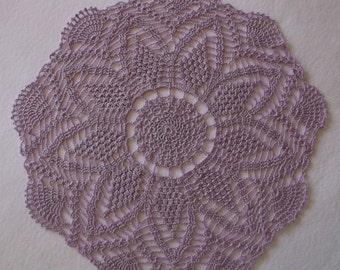 Crochet Doily in Violet Purple