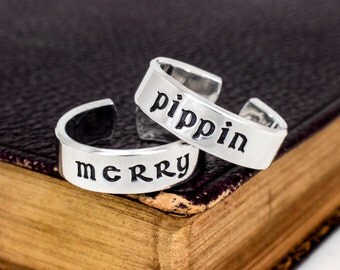 Merry and Pippin - Couples - Best Friends Ring Set
