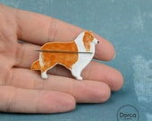 Needle minder rough collie Dog silhouette