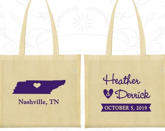 Tennessee Wedding, Tennessee Tote Bags, Cheap Canvas Tote Bags, Destination Wedding Bags, State Tote Bags, Custom Tote (141)