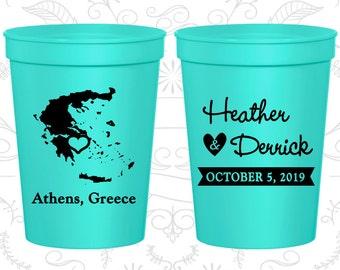 Greece Wedding Cups, Greece Stadium Cups, Greece Plastic Cups, Greece Cups, Greece Party Cups (177)