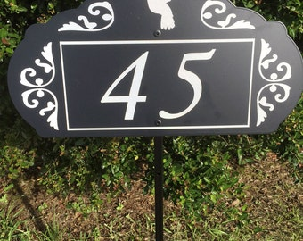 Hummingbird Garden Address Sign