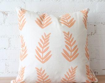 THE FERN THROW - tropical fern melon colorful pillows