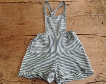 Vintage Child's Green Stripy Romper/Playsuit