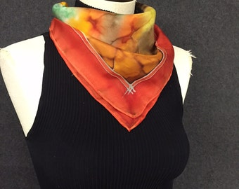 Fall Obsession - Hand Painted Silk Scarf by Tonya Butcher