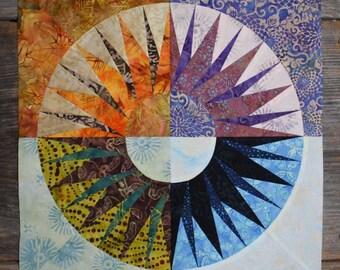 New York Beauty Quilt Block Paper Piecing Pattern - Block R