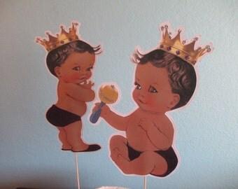 Little Prince Table Decorations(2)Royal Prince,Royal Blue,Purple,Prince Birthday,Royal Prince Baby,Royal Baby Decoration,Baby Shower
