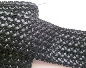 1 m elastic trim leather like 65 mm w.