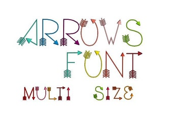 Arrows font machine embroidery design. Woodland alphabet embroidery design. South west style font. Arrows letters. Geometric alphabet.