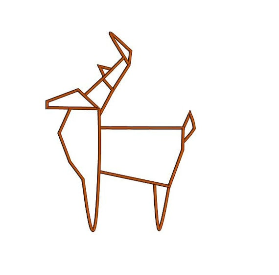 Origami deer applique design woodland origami applique - Applique origami ...