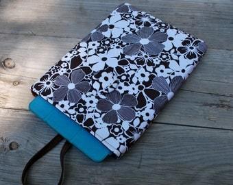 SALE! iPad Air Sleeve w/foam padding, Floral Padded ipad cover, Fabric device sleeve, Kindle cover, Fabric ipad Case, Fabric Sleeve