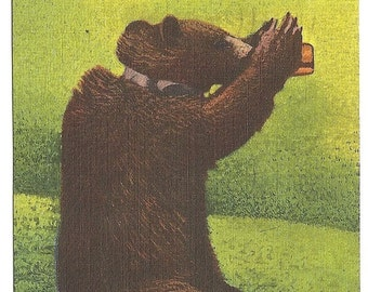 Here's Looking at You, Adirondack Mountains  1960 Postcard