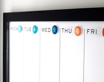 Dry Erase Calendar - Custom Framed and Magnetic!   Magnets sold separately