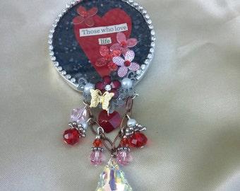 Round Soldered Love Pendant
