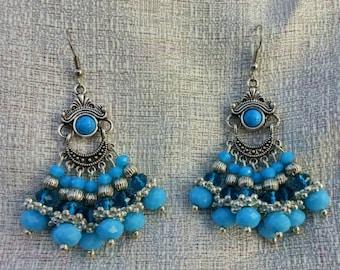 Sky Blue Chandelier Earrings