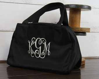 Personalized Insulated Lunch Tote Purse Bag - Name Monogram