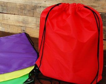 "VALUE Drawstring Backpack Cinch Sack Bags Size - 15"" x 18.5"" - 14 Colors"