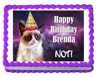 Grumpy cat birthday Etsy