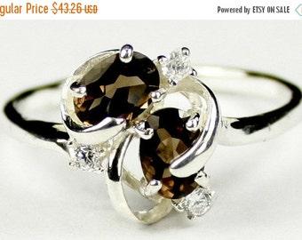 Summer Sale, 30% Off, SR016, Smoky Quartz, 925 Sterling Silver Ring