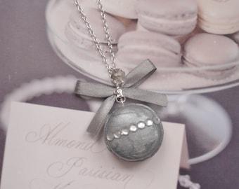 necklace silver macaron