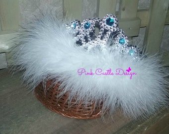 Tiara,Girl Turquoise Crown,Princess Accessory,1st Birthday,Pageant,Dance,Costume,Girls Toddler,Photo Prop,Fuchsia,1T,2T,3T,4,5,6,dress up