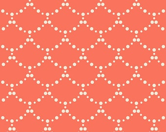 KNIT - Ripples Coral  - MILLIE FLEUR by Bari J. for Art Gallery Fabrics