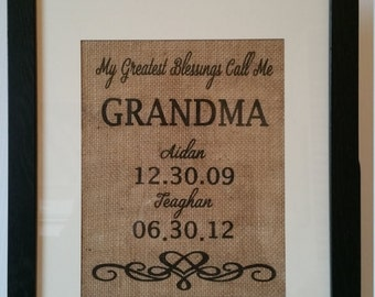 Burlap Family Prints