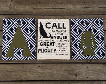 Adventure Nursery Wall Art, Camping Nursery Wall Art, Outdoor Nursery Wall Art, Unique Nursery Wall Art, Tribal Nursery Wall Art