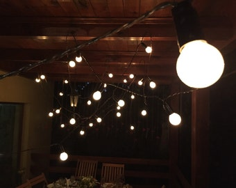32 Feet 20 E14 Bulbs Vintage String Light 220V with Dimmer Brown Wire Indoor Outdoor Warm Romantic Patio Globe String Lights
