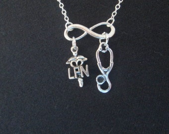 Infinity LPN Necklace - Choose your Length