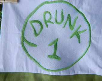 Personalized Drunk 1 Embroidered Pillowcase