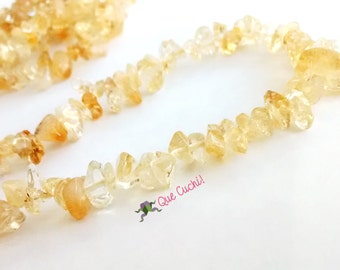 Long necklace with Citrine's stone