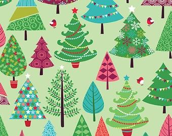 Festive Tree Yardage by Andover