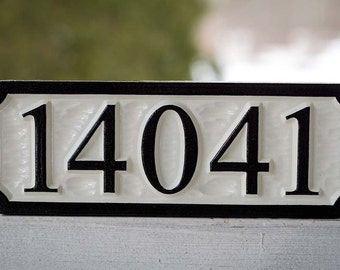 Vertical address sign create your own house number custom for Design your own house sign