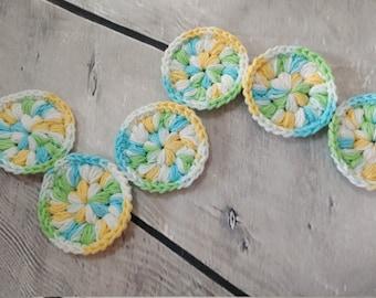 Face scrubbies - set of 6 - Crochet cotton scrubbies,  Makeup Removers,  Mini Washcloths, Eco-friendly