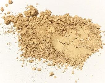 MEDIUM OLIVE Titanium Free Mineral Foundation - Multi Tasking Loose Powder - Gluten Free Vegan Makeup Samples and Full Size