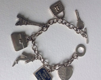 French Charm Bracelet by Agatha of Paris - Tourist Souvenir - France - Gifts for Her
