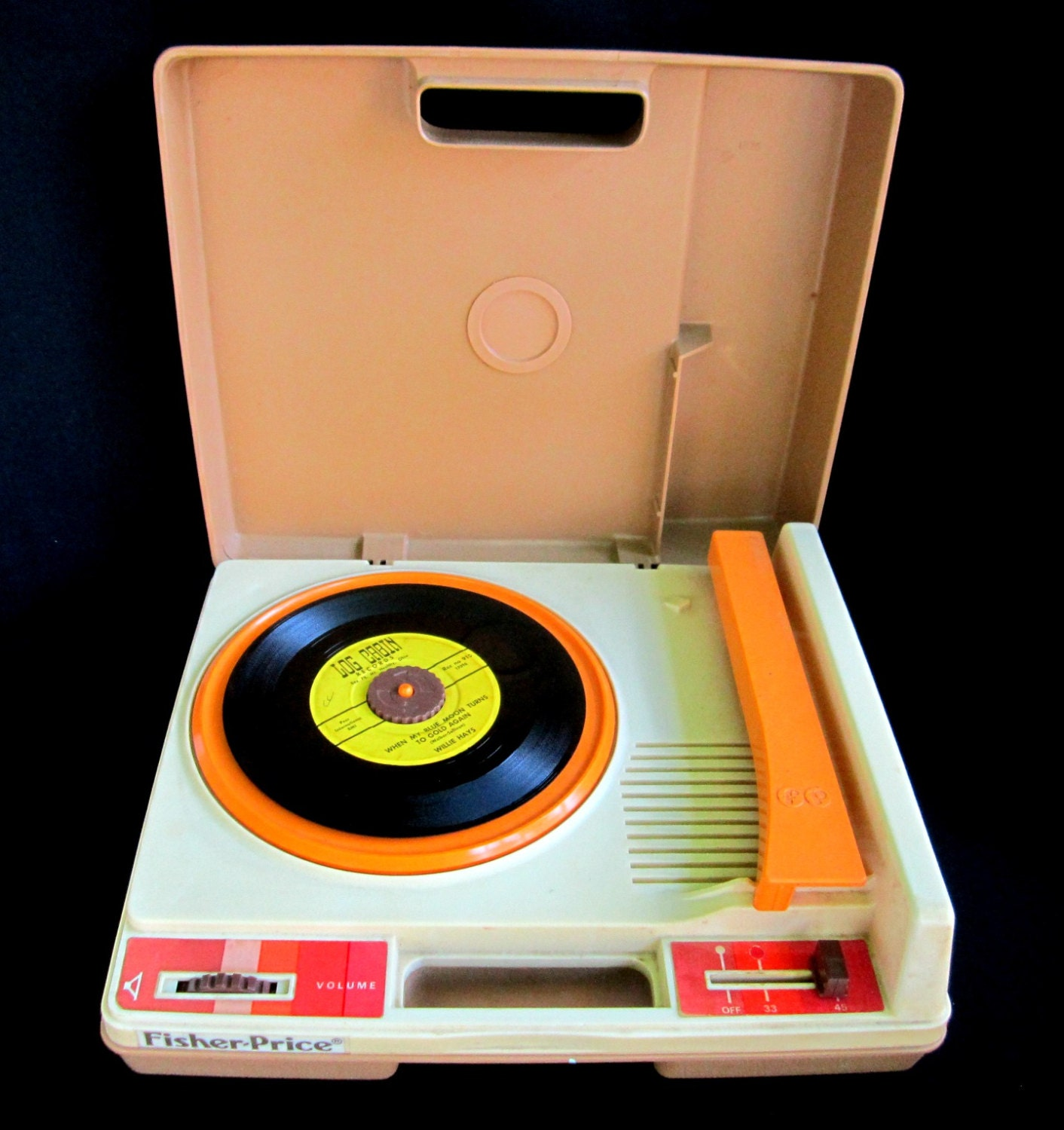 fisher price toys working vintage record player turn table. Black Bedroom Furniture Sets. Home Design Ideas