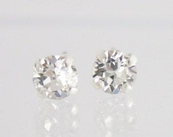 Flower girl earrings,flower girl jewelry,small crystal earrings,tiny earrings,small earrings,5mm earrings,Swarovski,small swarovski earrings