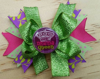 Sassy hair bow / quotes / drama queen hairbow
