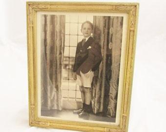 1935 Framed Photograph of a Handsome Boy Named Parry