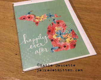 Happily Ever After Michigan NoteCard