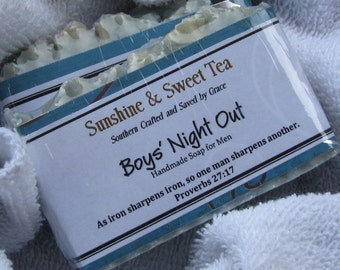 """Handmade Soap  """"Boys' Night Out""""  Men's Soap Free Shipping"""