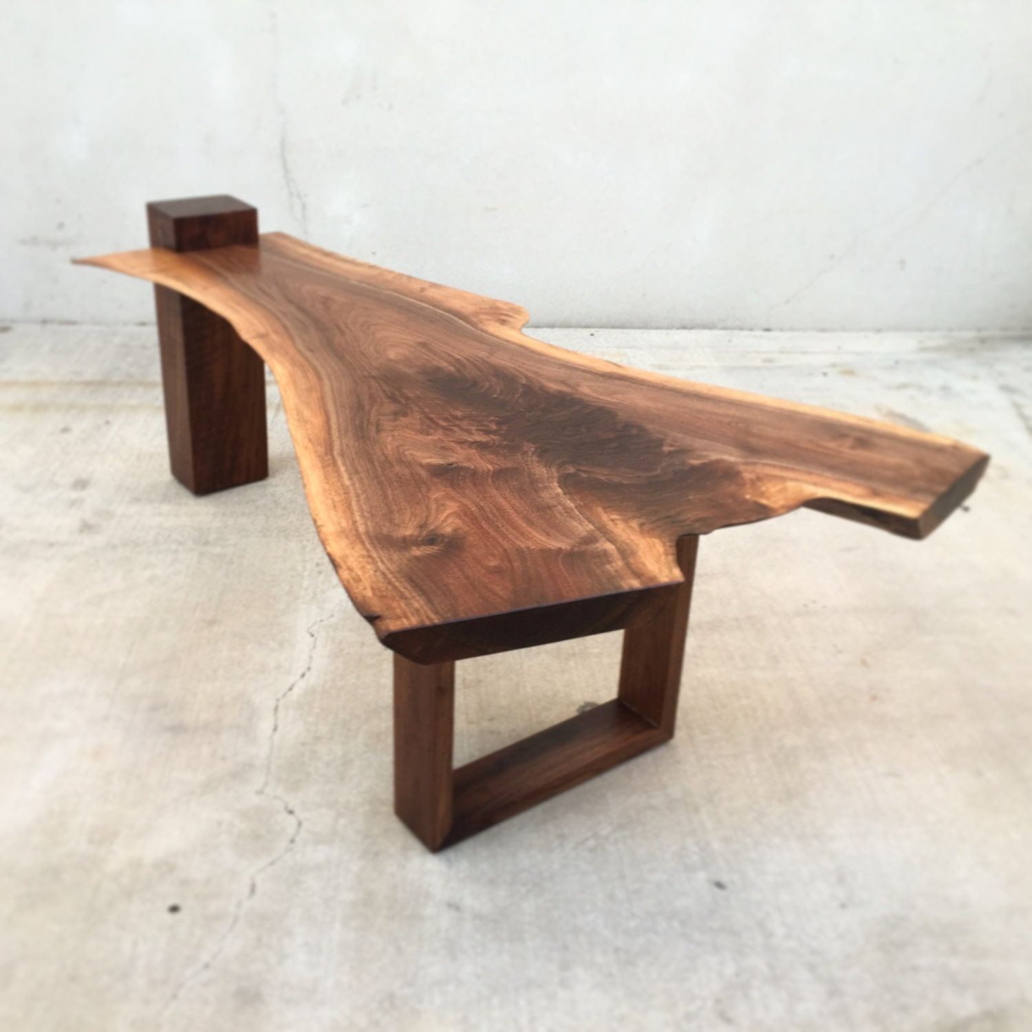 Sold One Of A Kind Live Edge Black Walnut Coffee Table With