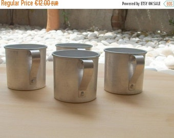 CLOSURE SALE 50% Vintage Kitchenalia Aluminium Mugs Cups Kitchen Decor Flower Pot Military Supplies Camping Mugs Farmhouse French Country De