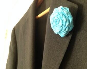 Handmade Lapel Roses (Button Back, Cotton fabric)