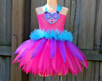 Abby cadabby tutu dress/ sesame street tutu/ Elmo tutu dress/ Abby cadabby tutu/ Sesame Street birthday/ Sesame Street party