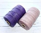 4 ply Irish Waxed Linen Cord Dark Plum - 1 Yard