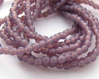 NEW Milky Amethyst 2mm Smooth Round Czech Glass  Beads 100pc #3111